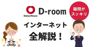 D-roomのインターネットを解説することに自信のある男性とそれに喜ぶ女性