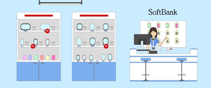 SoftBank携帯ショップのイラスト