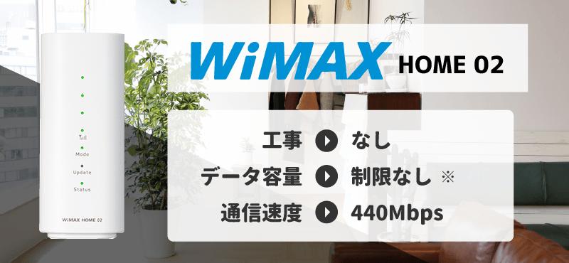 工事なしでインターネットが使える「WiMAX HOME 02」