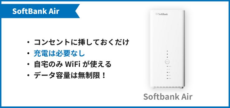 開通前レンタルで送られてくる機器(SoftBank Air)
