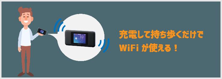 工事なしでWiFIが使えるモバイルルーター