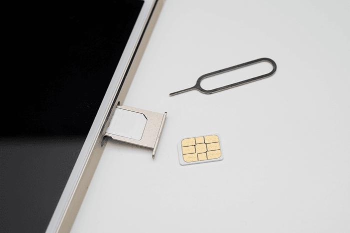 SIMカードの入れ替え