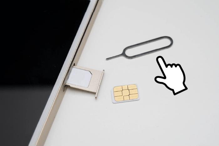 SIMカードの入れ替えで必要なピン