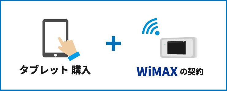 タブレット購入+WiMAXの契約